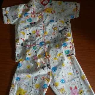Baju Piyama Anak Perempuan Celana Panjang Tangan Pendek