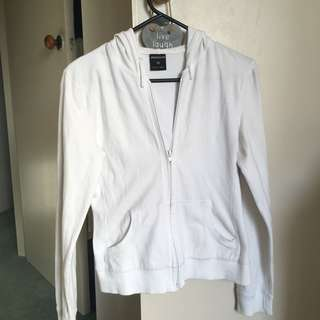 White zip-up jacket