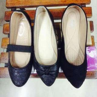 black doll shoes@350php size37