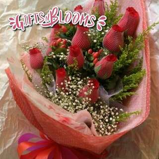 Fresh Flower Bouquet Surprise for Special Anniversary Birthday Gift V39 - PFXPE