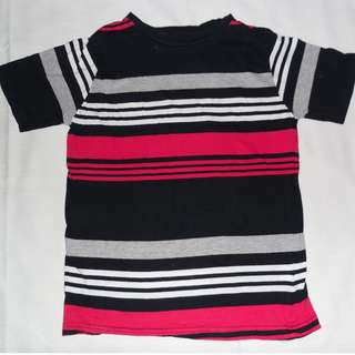 Charity Sale! Authentic Urban Kids T-shirt Black and Red Stripes Size Medium 10-12