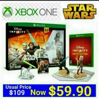 [Brand New] XBOX ONE DISNEY INFINITY 3.0 STAR WARS STARTER PACK (Region Free - Suitable for NTSC-J/NTSC) Usual Price: $109.90 Special Price; $59.90 +  Free Mail Postage (Brand New in box & Sealed)