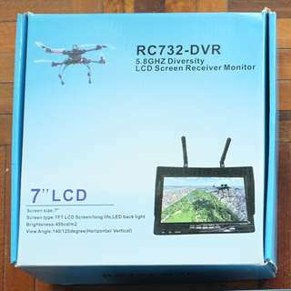 "7"" LCD Screen Receiver Monitor RC732-DVR"