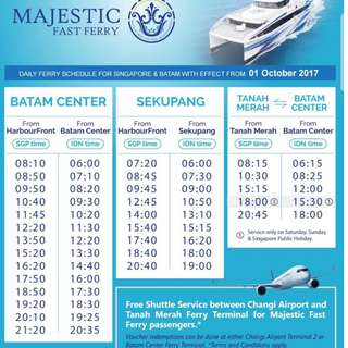 (INCLUDE ALL TAXES) 02 Ways Majestic Fast Ferry Ticket