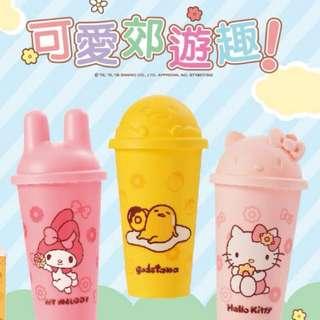 ✔Mister donut三麗鷗春遊環保杯組 一組共3款Hello Kitty melody 蛋黃哥