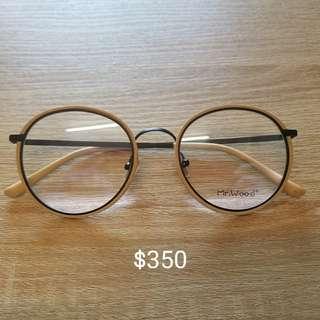 全新眼鏡(木製+ 金屬)
