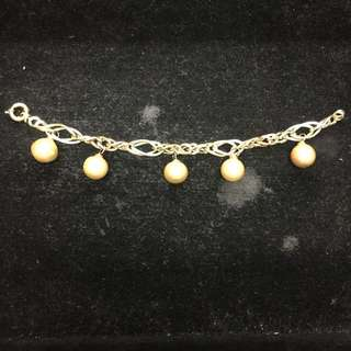 14K Bracelet with South Sea Pearl Charms