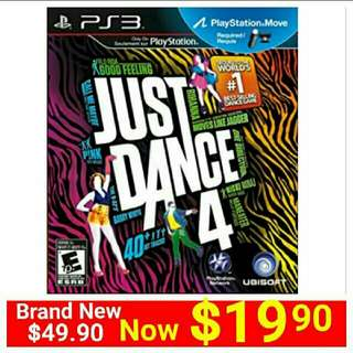 [ Brand New ] PS3 Playstation Move JUST DANCE.4 (Move Edition)   Usual Price: $49.90. Special Offer: $19.90  + Free Mail Postage (Brand New & Sealed) Or Whatsapp  85992490 to  Pickup From any Mrt Stn In Town.