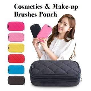 Cosmetics and Makeup Brushes Pouch