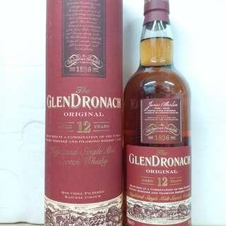 格蘭多納 GlenDronach 12y whisky 威士忌700ml