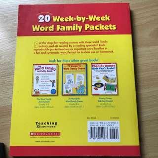 Scholastic Word family practice book