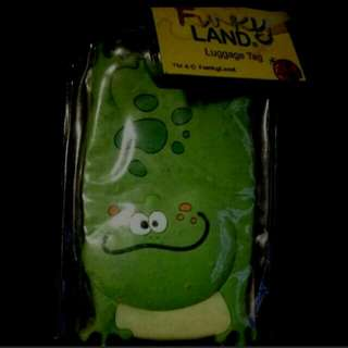 Froggie travel tag for kids