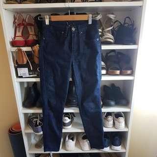 Dark Denim Highwaisted Baedot Jeans