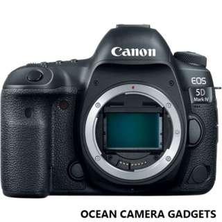 Canon 5D mark IV 5D4 Camera body (1 year warranty, brand NEW  in stock)