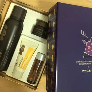BN - Korea Innisfree Super Volcanic Clay Mousse Mask Set Holiday Limited Edition Gift Set