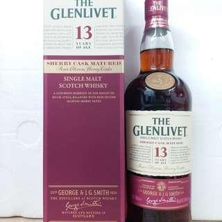 The glenlivet 13y whisky 威士忌 700ml
