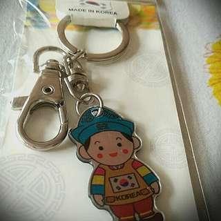 Korean cute boy keychain