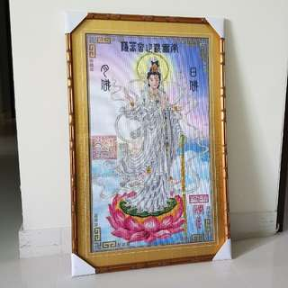 New hand made cross stitch image of Dripping Guan Yin (滴水观音)