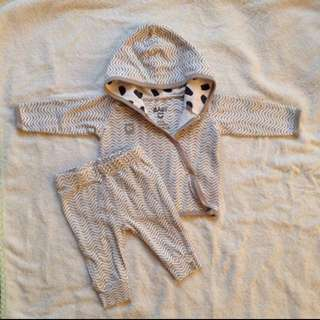 Cotton on baby hoodie set