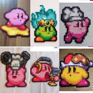 Kirby Hama Bead Designs