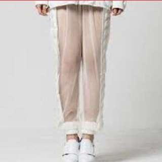 KYE TR007 Adele mesh pants: white