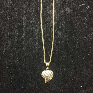 14K Chain with Heart Pendant 2.6g