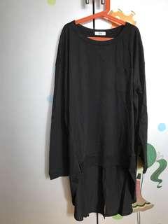 韓國this黑色型格長top