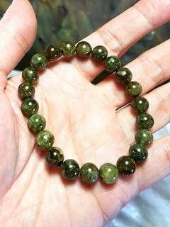 8mm Green (Grossular) Garnet bracelet [Natural crystal]