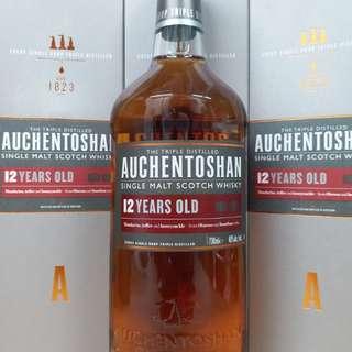 Auchetoshan 12y 雙桶 whisky 威士忌 700ml