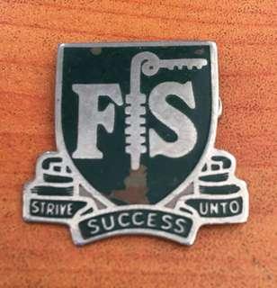 Vintage...FS Metal Badge