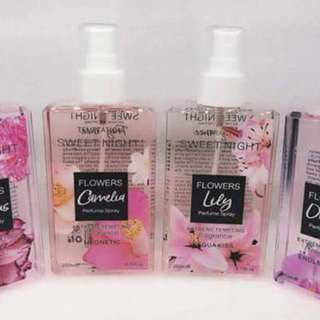 Sweet night perfume spray