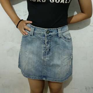Mini Skirt jeans *freeongkir