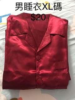 上頭紅睡衣(女$20,男$20)
