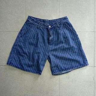 🚚 條紋牛仔褲五分褲