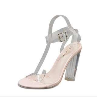 Transparent heels