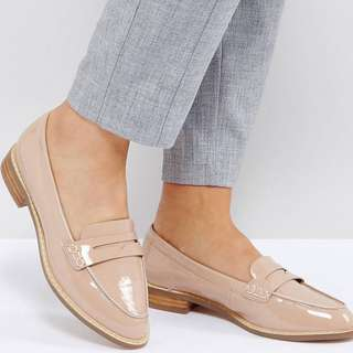 ASOS MUNCH Wide Fit Loafer Flat Shoes