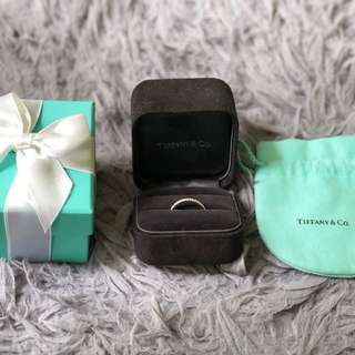 ORIGINAL Tiffany Double Ring Case with Blue Box & pouch