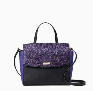SALE Kate Spade Laurel Way Alisanne Glitter Handbag Satchel Slingbag