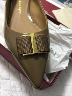 Salvatore Ferragamo 尖頭平底鞋