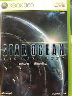 包郵 XBOX 360 STAR OCEAN THE LAST HOPE 銀河遊俠4: 最後希望 日文版 95%新