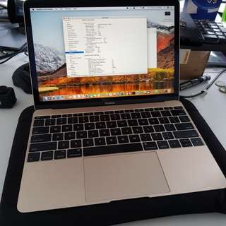 Almost Brand New MacBook 2017 gold 12 inch