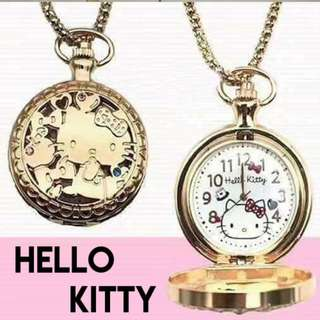 Necklace with Hello Kitty Clock Pendant