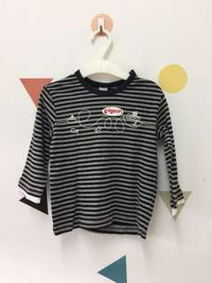Pigeon - Striped Long Sleeve Tee with Pant