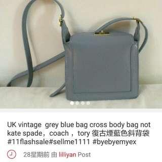 uk vintage women bag grey blue