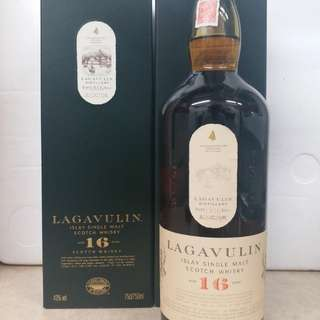Lagavulin Islay single malt scotch whisky 16y  威士忌 750ml