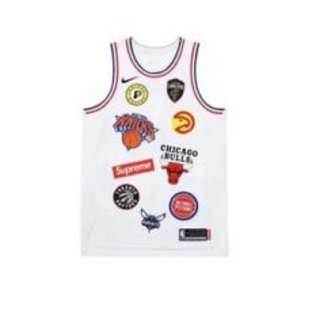 全新 Supreme x Nike NBA Authematic White Jersey Size M