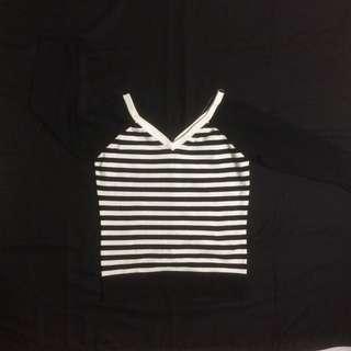 Stripe Long Sleeve Button