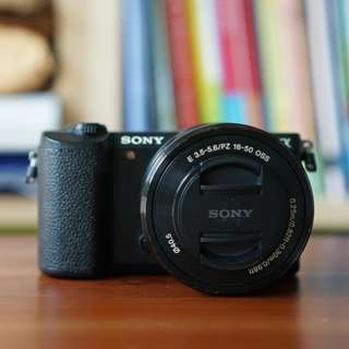Sony Alpha A5100 Mirrorless Digital Camera with 16-50mm Lens Black