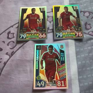 Match Attax Premier League 17/18 Pro 11 cards (Liverpool)