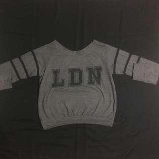 Grey Crop Sweater